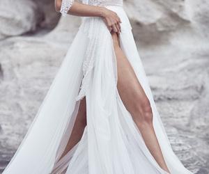 bridal, dress, and feminine image