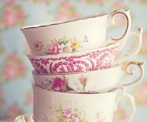 cup, tea, and vintage image