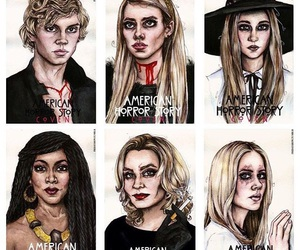 art, cast, and coven image