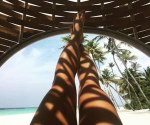 beach, girl, and legs image