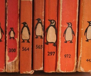 orange, book, and penguin image