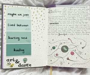 journal, art, and saturn image