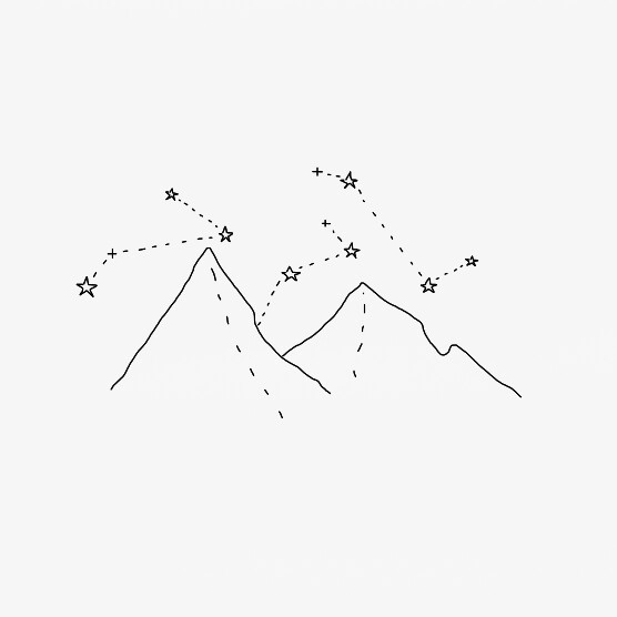 drawing, mountain, and mountains image