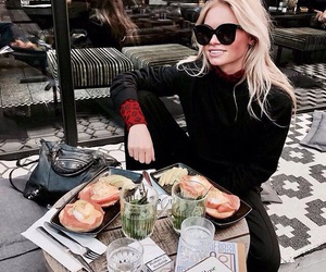 food, girl, and drink image
