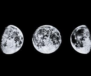 moon, header, and black image