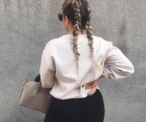 fashion, hairbraid, and lifestyle image