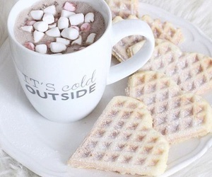food, winter, and waffles image