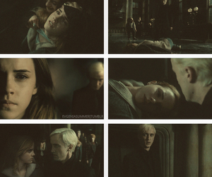 draco malfoy, dramione, and harry potter image