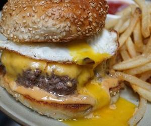 bacon, burger, and burgers image