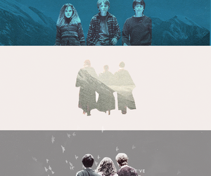 emma watson, ron weasley, and harry potter image