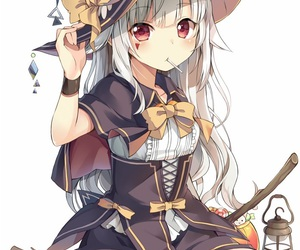 anime, witch, and anime girl image
