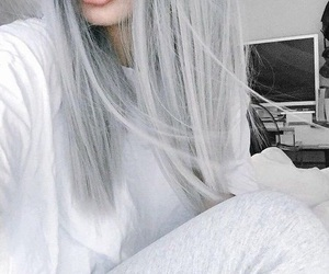 hair, tumblr, and grey image