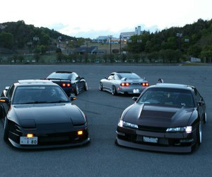 black, cars, and drift image