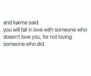 quotes, karma, and love image