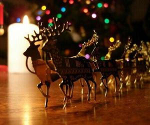 christmas, winter, and lights image