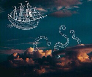 ocean, pirates, and ship image