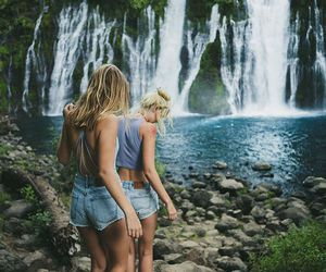 girl, friends, and adventure image