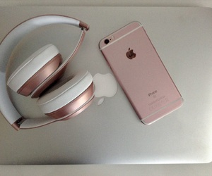 apple, rose gold, and beats image