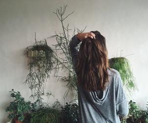 brownhair, cactus, and girl image