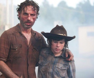the walking dead, rick grimes, and carl image
