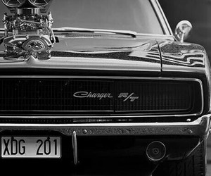 charger, dodge, and muscle car image