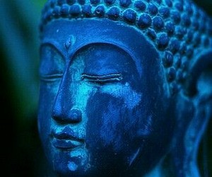 blue and Buddha image