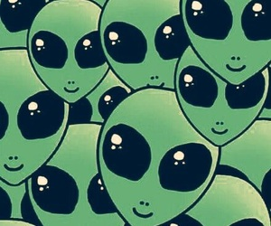 alien, wallpaper, and green image
