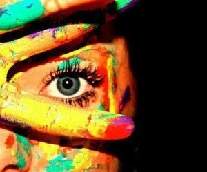 color, eye, and fingers image