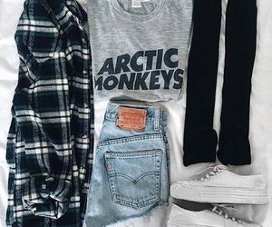 outfit, arctic monkeys, and clothes image