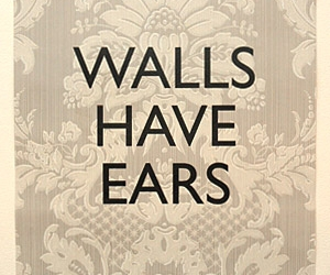 Keep Calm Ltd » Walls Have Ears - Damask