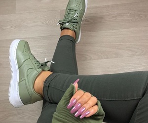 nails, nike, and green image