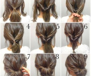 hair, hairstyle, and diy image