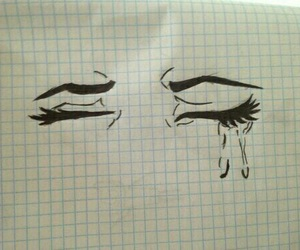 drawing, cry, and art image
