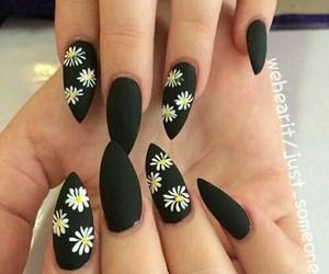 black, matte, and nails image
