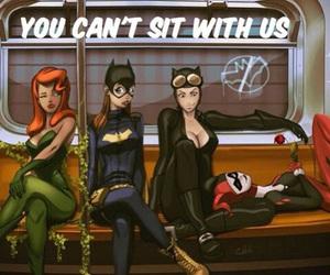 batgirl, catwoman, and harley quinn image