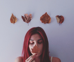autumn, face, and female image
