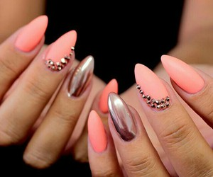 manicure, nails, and spring image