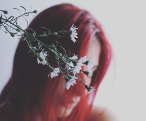 flowers, girl, and light image