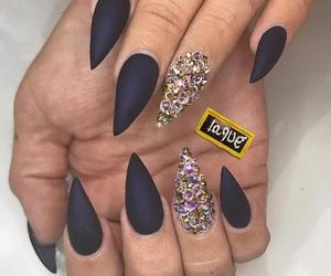 diamonds, nail nails nailart, and beautiful love glam image