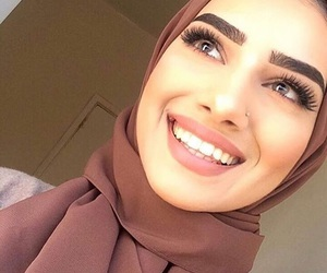beauty, hijab, and makeup image