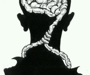 brain, thoughts, and suicide image