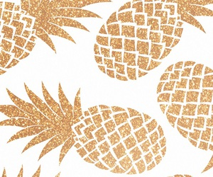 wallpaper, pineapple, and gold image