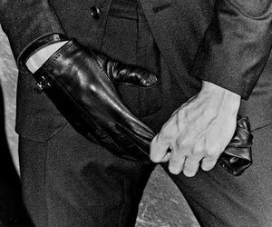 gloves, hands, and man image