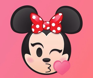 minnie, emoji, and wallpaper image