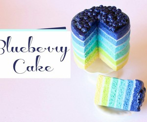 blueberry, cake, and fimo image