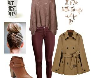 bun, coat, and coffee image