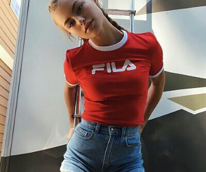 girl, Fila, and style image