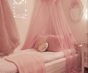 pink, bedroom, and place image