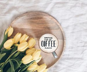 bouquet, coffe, and flowers image