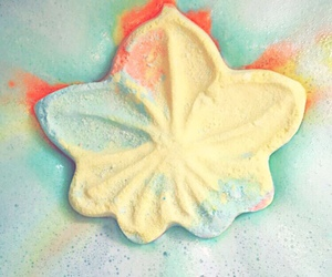 colors, leaves, and lush cosmetics image